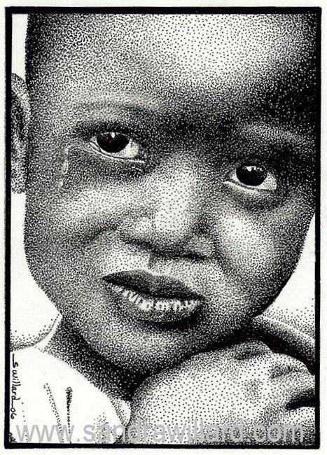Art: He will wipe out every tear by Artist Sandra Willard