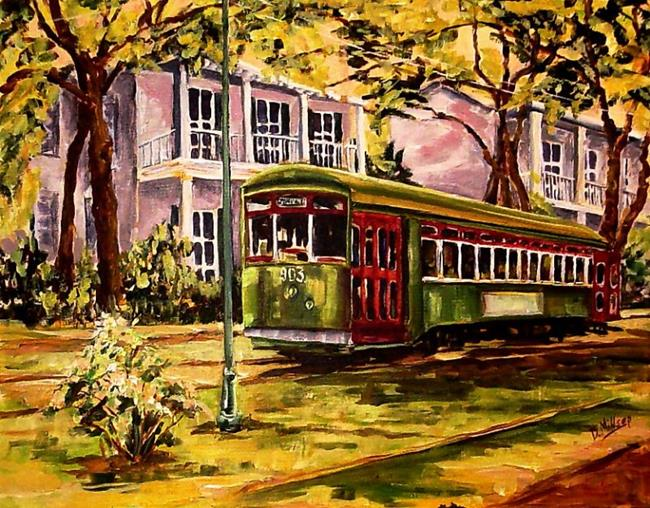 Art: New Orleans Streetcar-Weinberg Commission by Artist Diane Millsap