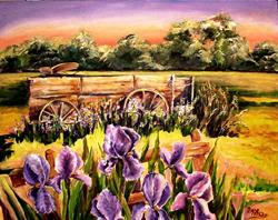Art: Larry's Old Wagon by Artist Diane Millsap