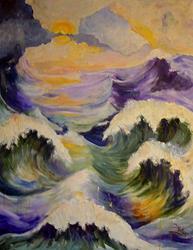 Art: Eternal Ocean-Commission by Artist Diane Millsap