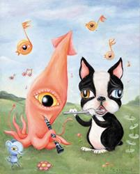 Art: Melody in Wiggly Minor by Artist Vicky Knowles