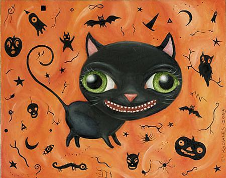 Art: Halloweenie 2 by Artist Vicky Knowles