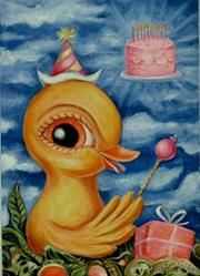 Art: The Emperor of Birthdays by Artist Vicky Knowles