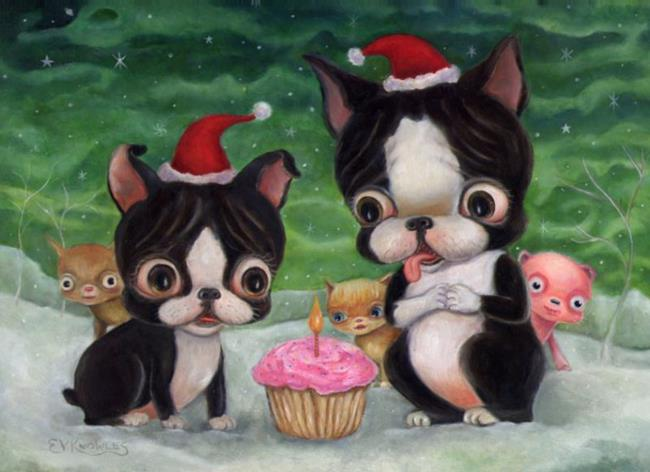Art: Lola and Uncle Wiggles by Artist Vicky Knowles