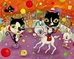 Art: Circus of Whiskers by Artist Vicky Knowles