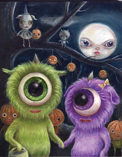 Art: A Cyclops Halloween by Artist Vicky Knowles