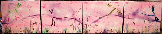 Art: Carol's Dragonflies by Artist Rebecca M Ronesi-Gutierrez