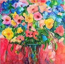 Art: Valentine's Bouquet - sold by Artist Ulrike 'Ricky' Martin