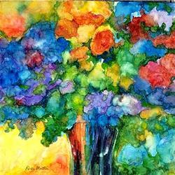 Art: Flowers of summer - sold by Artist Ulrike 'Ricky' Martin