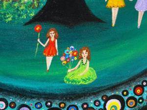 Detail Image for art Four Pretty Girls