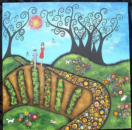 Art: Our Magical Garden by Artist Juli Cady Ryan