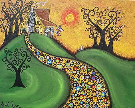 Art: Happiness Is Home by Artist Juli Cady Ryan