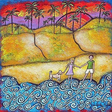 Art: Magic At Laguna Beach by Artist Juli Cady Ryan
