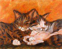 Art: Slinky and Sierra by Artist Tracey Allyn Greene