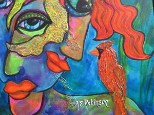 Detail Image for art A Little Bird Told Me 18x24