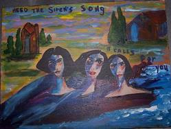 Art: Heed the Sirens Song SOLD by Artist Nancy Denommee