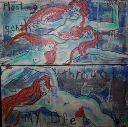 Art: Floating Gently Through My Life diptych by Artist Nancy Denommee