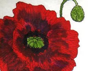 Detail Image for art Poppy original painting