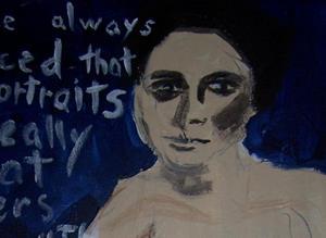 Detail Image for art I Have Always Noticed Gertrude Stein SOLD