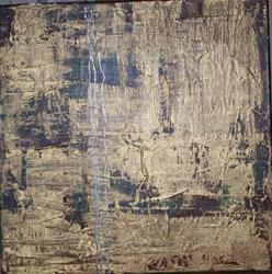 Art: Silver Threads Among the Gold original abstract painting by Artist Nancy Denommee