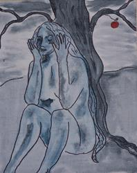Art: Eve Beneath the Apple Tree by Artist Nancy Denommee