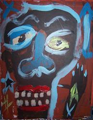Art: headache by Artist Nancy Denommee