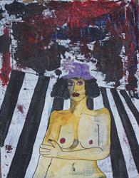 Art: The Purple Hat original painting by Artist Nancy Denommee