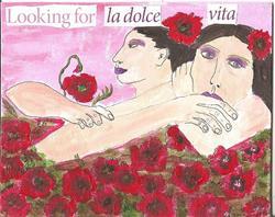 Art: Looking For La Dolce Vita by Artist Nancy Denommee