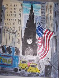 Art: WALL STREET SOLD by Artist Nancy Denommee