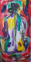 Art: I Live Inside the Rainbow SOLD by Artist Nancy Denommee