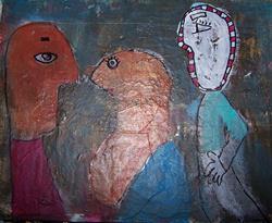 Art: Three Outsiders by Artist Nancy Denommee
