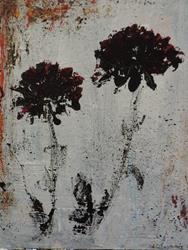 Art: black poppies by Artist Nancy Denommee
