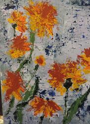 Art: california poppies by Artist Nancy Denommee