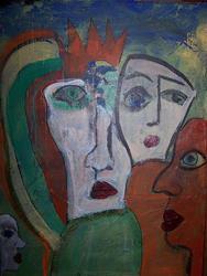 Art: congregation by Artist Nancy Denommee