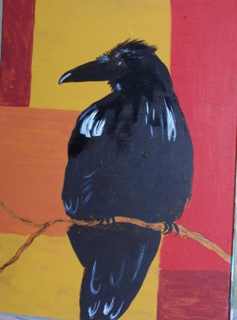 Crow Against Abstract ...