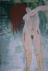 Art: In the Wind large original nude painting by Artist Nancy Denommee