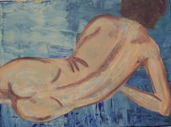Art: Nude # 31 original painting by Artist Nancy Denommee