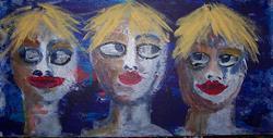 Art: Fans of Andy by Artist Nancy Denommee