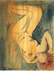 Art: Reclining Nude by Artist Nancy Denommee