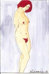 Art: Nude # 23 original  painting by Artist Nancy Denommee