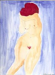 Art: Nude 3 26 original painting by Artist Nancy Denommee