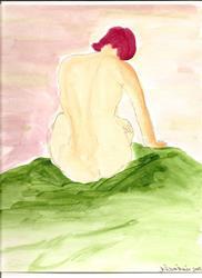 Art: Nude # 27 original painting by Artist Nancy Denommee