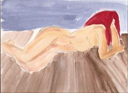 Art: Nude # 28 original painting by Artist Nancy Denommee