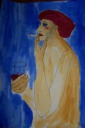 Art: Margaret original painting by Artist Nancy Denommee