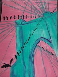 Art: Brooklyn Bridge Fantasy by Artist Nancy Denommee