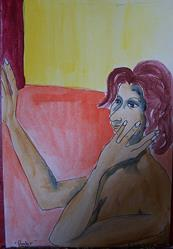 Art: Ponder 2 by Artist Nancy Denommee