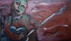 Art: Guitar Player by Artist Nancy Denommee