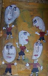 Art: Game Boys by Artist Nancy Denommee