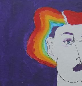Detail Image for art she's a rainbow