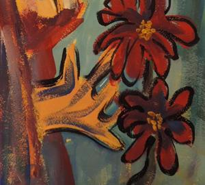Detail Image for art red flowers